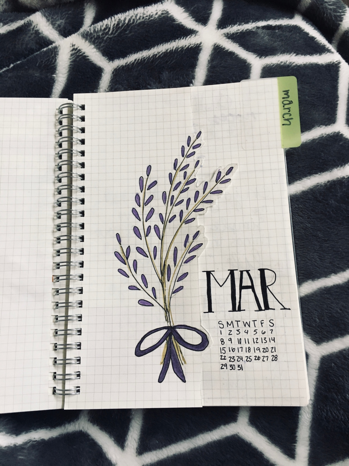 March bujo setup + an attempt at a tutorial? *highfives*