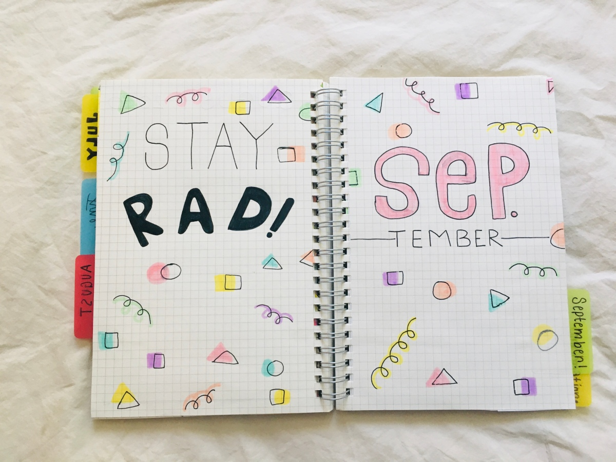 September bujo set-up! *runs in the door late*