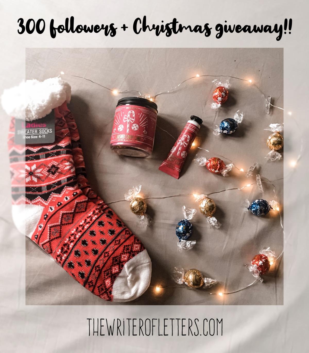 300 followers + Christmas giveaway!! *Confetti rains on usall*